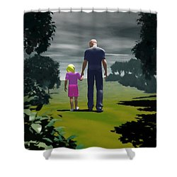 The Gift Of Being 'daddy' Shower Curtain