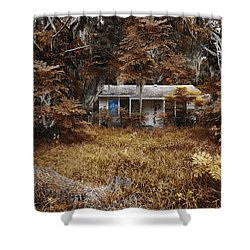 The Girl Left Behind Shower Curtain by Skip Nall