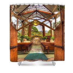 The Glass Church Shower Curtain