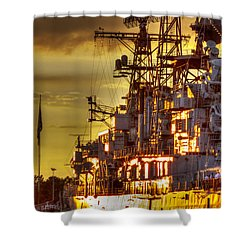 The Glory Days -  Uss Sullivans Shower Curtain