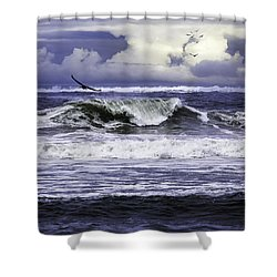 The Glory Of Morning On The Oregon Coast Shower Curtain