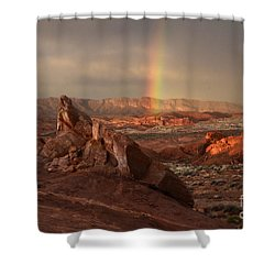 The Glory Of Sandstone Shower Curtain by Bob Christopher