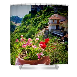 The Godfather Villages Of Sicily Shower Curtain by David Smith