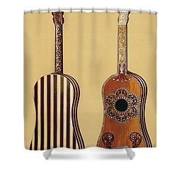The Gold Temple Of The Principal Idol Shower Curtain by Joseph Moore