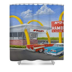 The Golden Age Of The Golden Arches Shower Curtain by Jerry McElroy