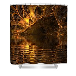 The Golden Cave Shower Curtain