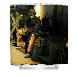 The Golden Cowboy Shower Curtain