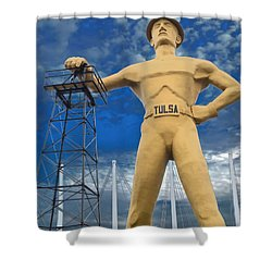 The Golden Driller - Tulsa Oklahoma Shower Curtain