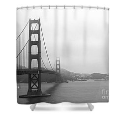 The Golden Gate Bridge In Classic B W Shower Curtain