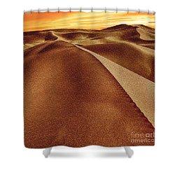The Golden Hour Anza Borrego Desert Shower Curtain by Bob and Nadine Johnston