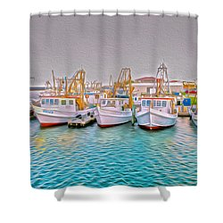 The Golden Hour Shower Curtain