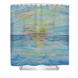 The Golden Lady Shower Curtain by Diane Pape