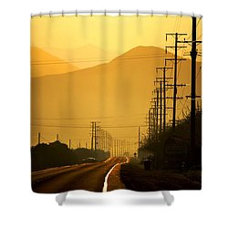 The Golden Road Shower Curtain by Matt Harang