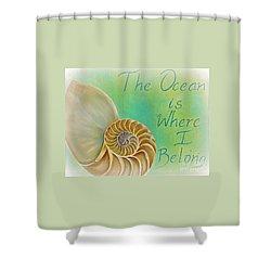 The Golden Spiral  Shower Curtain by Gabriela Valencia