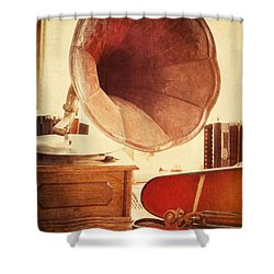 Shower Curtain featuring the photograph The Golden Years by Amy Weiss
