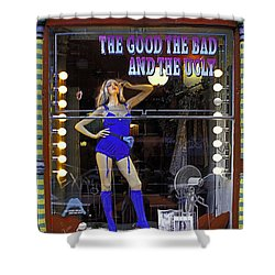 The Good Bad And Ugly Shower Curtain by Bruce Bain