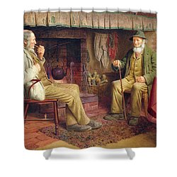 The Gossip Shower Curtain by Henry Spernon Tozer