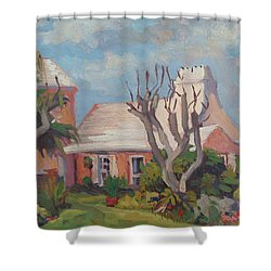 The Granaway Shower Curtain by Dianne Panarelli Miller