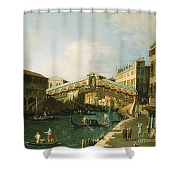 The Grand Canal   Venice Shower Curtain by Canaletto