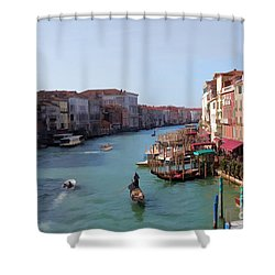 The Grand Canal Venice Oil Effect Shower Curtain