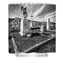 The Graveyard Shower Curtain by Adrian Evans
