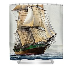 The Great Age Of Sail Shower Curtain by James Williamson