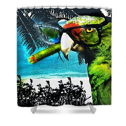 Shower Curtain featuring the digital art The Great Bird Of Casablanca by Seth Weaver