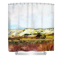 Shower Curtain featuring the painting Behind The Surge by Michael Helfen
