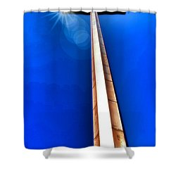 The Great Cross Of St. Augustine - Mission Nombre De Dios Shower Curtain