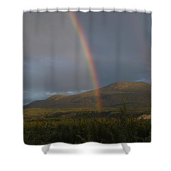 The Great Divide Shower Curtain by Brian Boyle