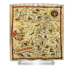 The Great Lakes State Shower Curtain