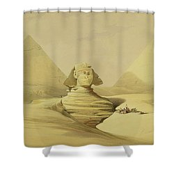 The Great Sphinx And The Pyramids Of Giza Shower Curtain