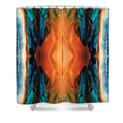 The Great Spirit - Abstract Art By Sharon Cummings Shower Curtain by Sharon Cummings