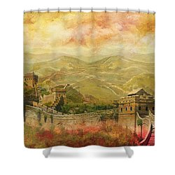 The Great Wall Of China Shower Curtain by Catf
