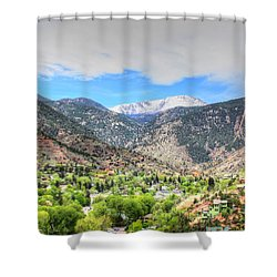 The Great White Shining Mountain Shower Curtain by Lanita Williams