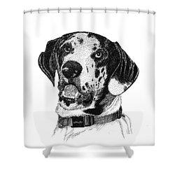 The Greatest Dane Shower Curtain by Jack Pumphrey