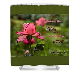 The Greatest Love Shower Curtain by Larry Bishop
