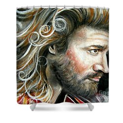 The Greatest Man In The World Shower Curtain by Patrice Torrillo