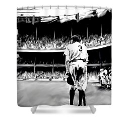The Greatest Of All  Babe Ruth Shower Curtain by Iconic Images Art Gallery David Pucciarelli