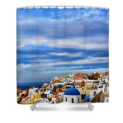 The Greek Isles-oia Shower Curtain