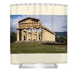 The Greek Temple Of Athena Shower Curtain