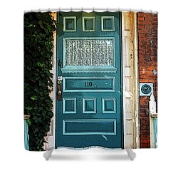 The Green Door Shower Curtain by Kathleen Struckle