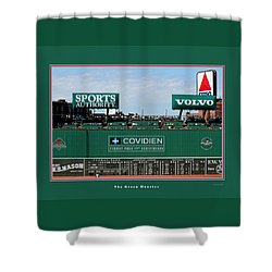 The Green Monster Fenway Park Shower Curtain by Tom Prendergast