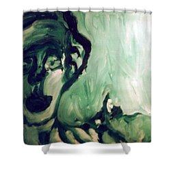 The Green Queen Shower Curtain