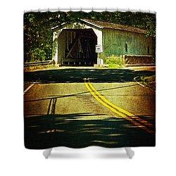 The Green Sergeants Covered Bridge Shower Curtain
