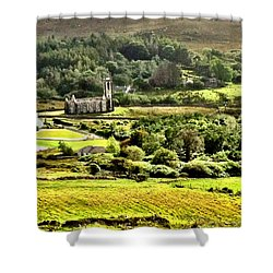Shower Curtain featuring the photograph The Green Valley Of Poisoned Glen by Charlie and Norma Brock