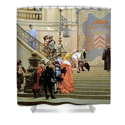 The Grey Cardinal Shower Curtain by Jean Leon Gerome