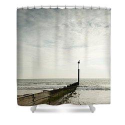 The Groyne Shower Curtain by Anne Gilbert