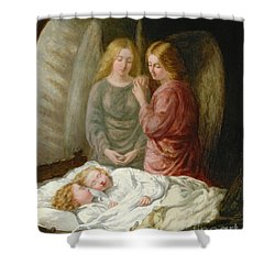 The Guardian Angels  Shower Curtain by Joshua Hargrave Sams Mann