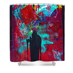 Shower Curtain featuring the painting The Guardian by Carolyn Repka